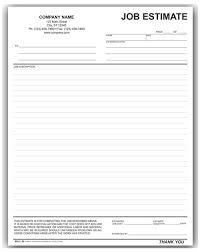 Hvac Estimate Template by Estimate Form
