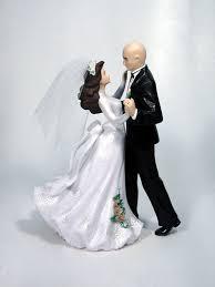 fireman wedding cake toppers bald wedding cake top groom