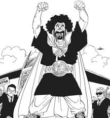 mister satan character dragon ball powerful man