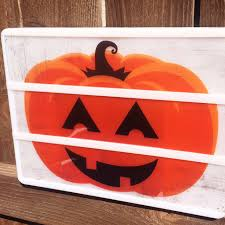 heidi swapp light box pumpkin love this fun halloween decoration
