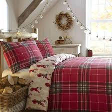 Red Pattern Duvet Covers Fusion Christmas Tartan Stag Flannelette