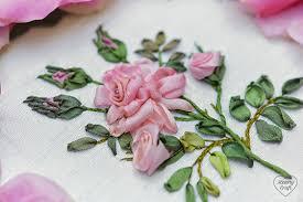 ribbon embroidery flower garden garden party part 4 rose hearty craft