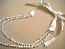 pearl ribbon ribbon and pearl necklace tutorial my girlish whims