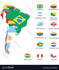 Map Of Chile South America by Map Of South America Royalty Free Vector Image