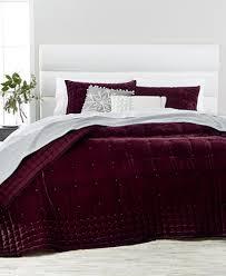martha stewart collection tufted velvet quilt u0026 sham collection