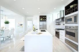 Modern Kitchen With White Appliances Modern Kitchen White Appliances Fascinating Design With Black Gray
