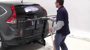 honda crv cargo box review of the curt folding hitch cargo carrier on a 2013 honda cr
