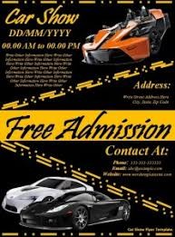 5 car show flyer templates word excel pdf templates