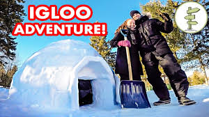 How To Build An Igloo In Your Backyard - our crazy experience building u0026 sleeping in an igloo winter