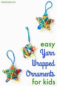 crafts for yarn wrapped ornaments yarns craft
