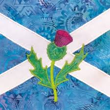 saltire and thistle by holy mackerel designs unique greetings