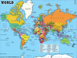 7 Continents Map World Maps With Countries Continent Seven Continents Labeled