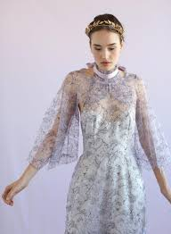 flutter style dress lilac lace collar w flutter sleeves style th017 twigs honey