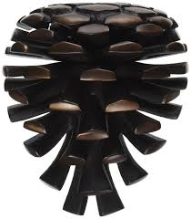 pinecone door knocker oiled bronze premium size amazon com