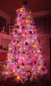 white christmas tree with colored lights classic white christmas tree with multi color lights www balsamhill