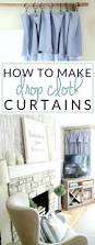 How To Wash Lace Curtains Diy No Sew Drop Cloth Curtains And A Cheap Curtain Rod Hack