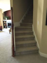 salisbury down east realty custom homes stairs to unfinished area