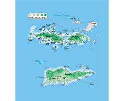 Labeled Map Of Us Maps Of Us Virgin Islands Detailed Map Of United States Virgin