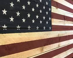 How To Display American Flag On Wall Natural Style Rustic Wood American Flag Wall Hanging