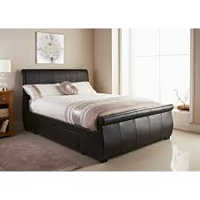 brown faux leather double bed jennifer u0027s cup of tea pinterest