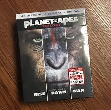 unboxing planet of the apes trilogy 4k uhd box set