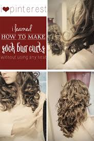 sock bun hair i heart how to make sock bun curls