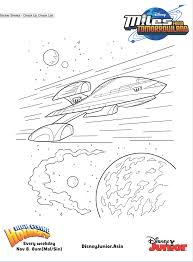 miles from tomorrowland u2013 stellosphere colouring page disney