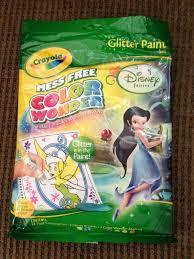 crayola mess free color wonder disney fairies glitter paint set