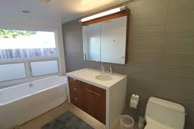 mid century modern bathroom tile bathroom having wall mounted