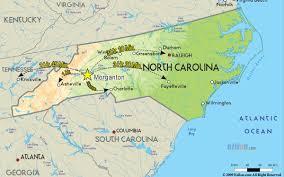 Map Nc City Of Morganton North Carolina