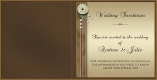 wedding invitations online brown design with simple fonts or words