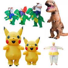 Pikachu Halloween Costume Kids Adults Kids Inflatable Dinosaur Pikachu Costume Cosplay Halloween