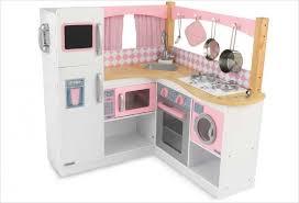 jouets cuisine cuisine d angle en bois jouet cuisine kidkraft et blanche