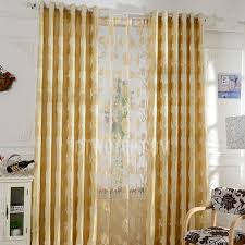 Gold Color Curtains Grace Gold Color Poly Cotton Blend Fabric Privacy Curtain With