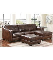 Leather Or Microfiber Sofa by Sectionals Rosemary Leather Sectional