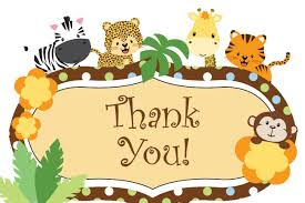 Invitation Blank Card Stock Boy Jungle Baby Shower Thank You Cards Baby Shower Mania