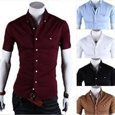mens short sleeve dress shirts ebay
