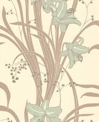 art nouveau interior design u0026 home decor lilies wallpaper for