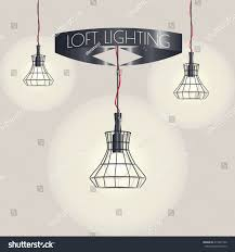 loft lighting loft pendant lights isolated stock vector 413261590