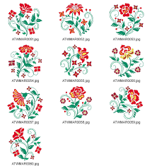 style flower scroll down for flowers embroidery designs
