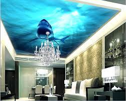 painting a wall mural alternatux com custom photo non woven 3d ceiling murals wallpaper shark sea world decoration painting wall for walls