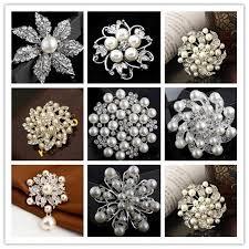 2017 different 30 mix styles brooch diamond brooch pearl pins