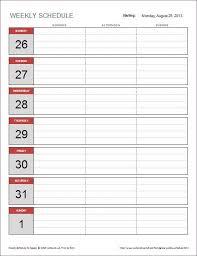 die besten 25 weekly schedule template excel ideen auf pinterest