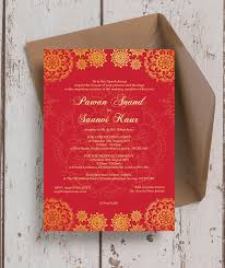south asian wedding invitations gold indian asian wedding invitation from 1 00 each