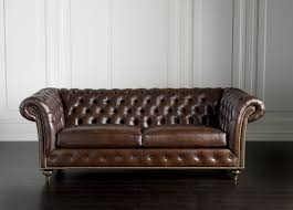 furniture urban leather brown retro tufted couches