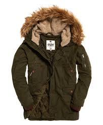 Green Parka Jacket Mens Superdry Rookie Heavy Weather Parka Jacket Green Fashion