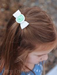 hair bows for felt peppermint swirl christmas hair bows diy candy