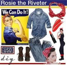 Rosie Riveter Halloween Costume Easy Halloween Costume Rosie Riveter Sewing