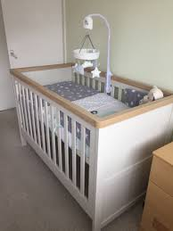 Orchard Sleigh Cot Toddler Bed White Mothercare Lulworth 3 Piece Nursery Furniture Set Classic White