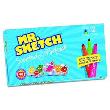 mr sketch scented watercolor blueberry marker pack of 12 free